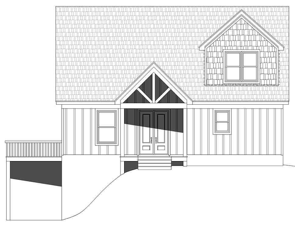 A-Frame, Contemporary House Plan 52164 with 4 Beds, 4 Baths Picture 3