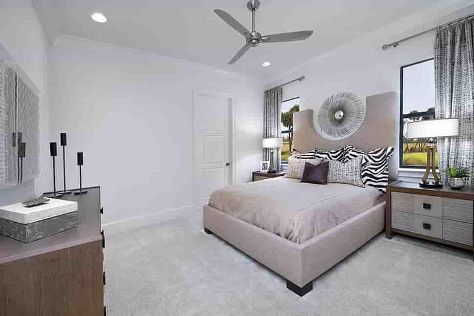 Coastal, Florida, Mediterranean House Plan 52930 with 4 Beds, 6 Baths, 3 Car Garage Picture 12