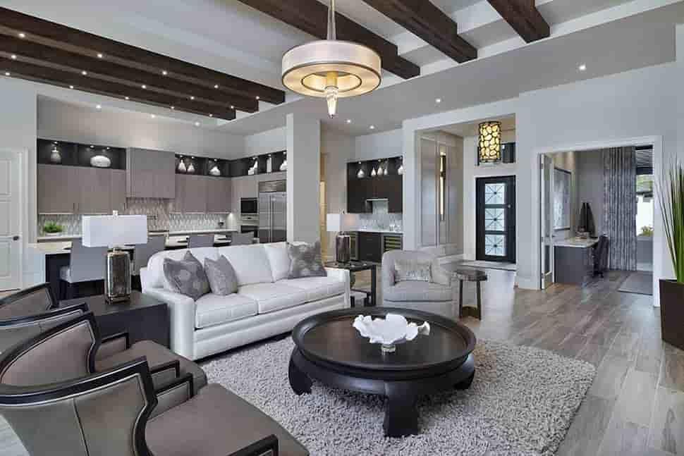 Coastal, Florida, Mediterranean House Plan 52930 with 4 Beds, 6 Baths, 3 Car Garage Picture 3