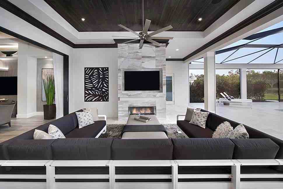Coastal, Florida, Mediterranean House Plan 52930 with 4 Beds, 6 Baths, 3 Car Garage Picture 4