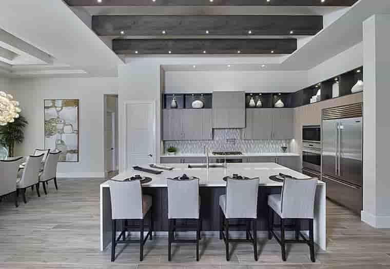 Coastal, Florida, Mediterranean House Plan 52930 with 4 Beds, 6 Baths, 3 Car Garage Picture 5