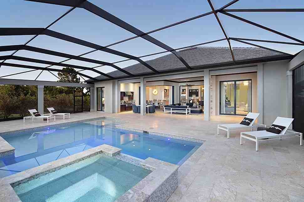 Coastal, Florida, Mediterranean House Plan 52930 with 4 Beds, 6 Baths, 3 Car Garage Picture 8