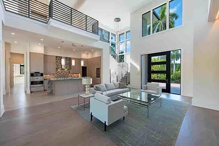 Coastal, Contemporary, Florida, Mediterranean House Plan 52931 with 4 Beds, 5 Baths, 3 Car Garage Picture 10