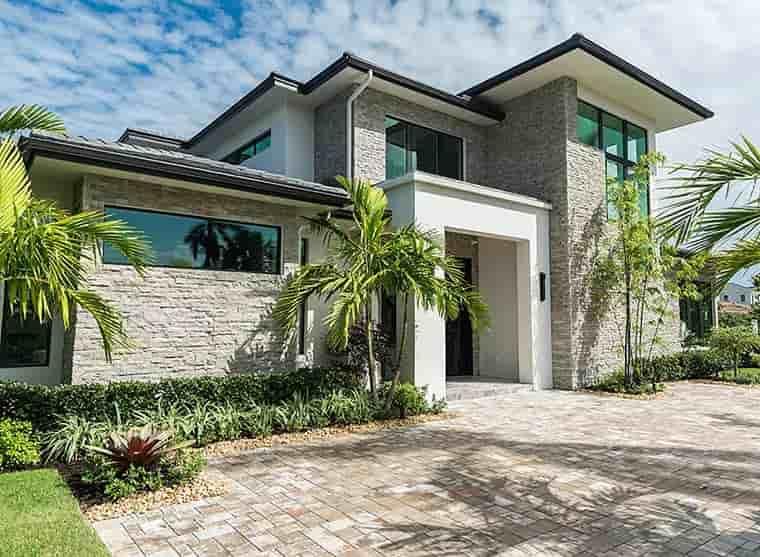 Coastal, Contemporary, Florida, Mediterranean House Plan 52931 with 4 Beds, 5 Baths, 3 Car Garage Picture 2