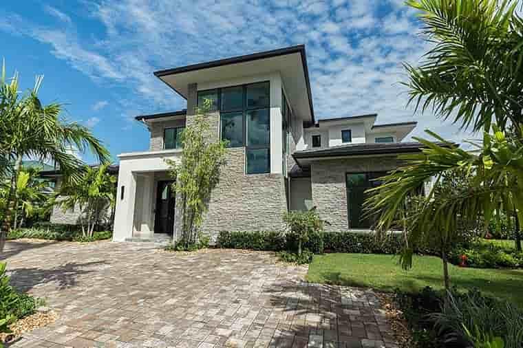 Coastal, Contemporary, Florida, Mediterranean House Plan 52931 with 4 Beds, 5 Baths, 3 Car Garage Picture 3
