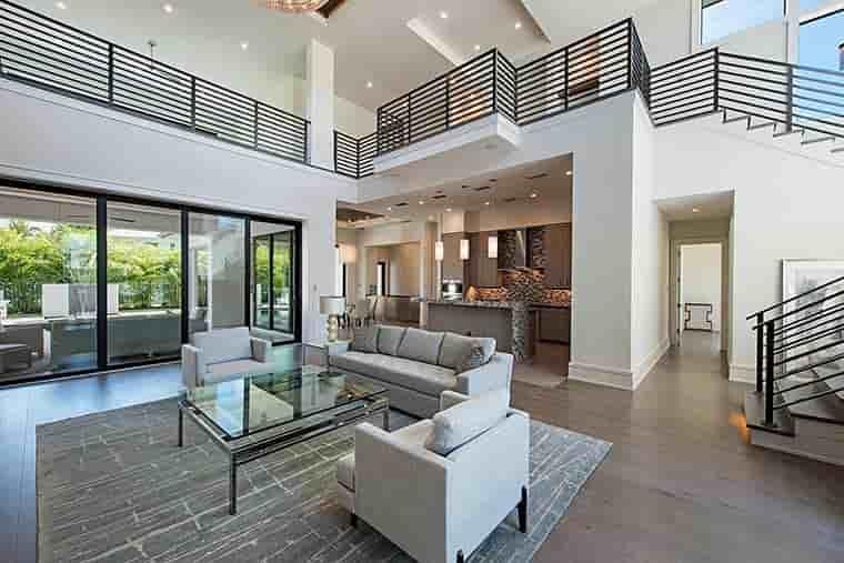 Coastal, Contemporary, Florida, Mediterranean House Plan 52931 with 4 Beds, 5 Baths, 3 Car Garage Picture 9