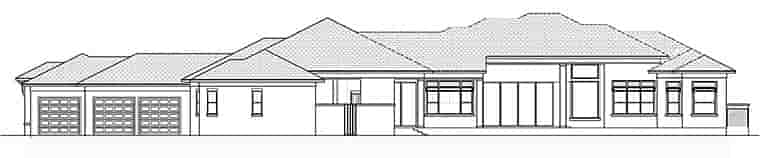 Coastal, Contemporary, Florida House Plan 52939 with 4 Beds, 6 Baths, 3 Car Garage Rear Elevation