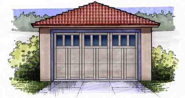 2 Car Garage Plan 54790 Elevation