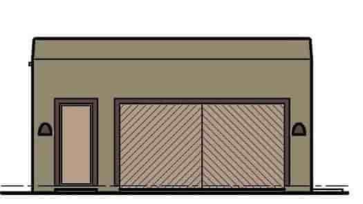 2 Car Garage Plan 54798 Elevation