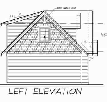 Cape Cod 3 Car Garage Apartment Plan 55547 with 1 Beds, 1 Baths Picture 1
