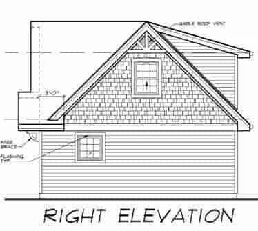 Cape Cod 3 Car Garage Apartment Plan 55547 with 1 Beds, 1 Baths Picture 2