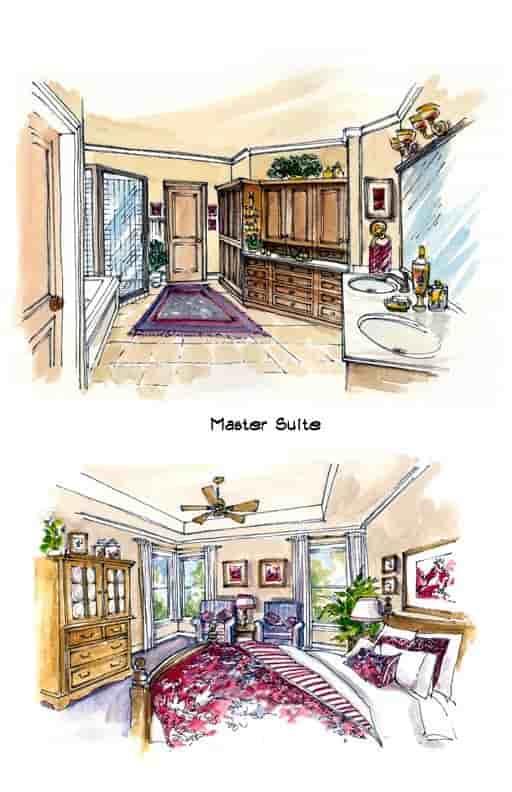 Mediterranean, Southwest House Plan 56540 with 3 Beds, 3 Baths, 3 Car Garage Picture 1