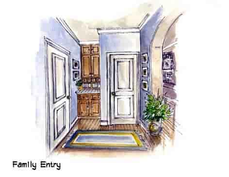 Mediterranean, Southwest House Plan 56540 with 3 Beds, 3 Baths, 3 Car Garage Picture 4