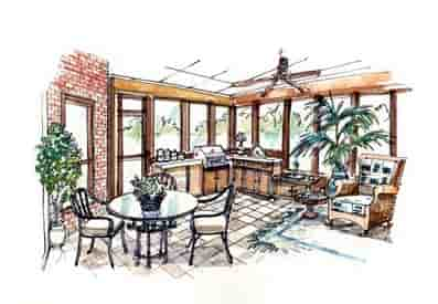 European, Traditional House Plan 56543 with 3 Beds, 2 Baths, 3 Car Garage Picture 1