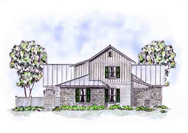 Country, Craftsman, Farmhouse Multi-Family Plan 56562 with 5 Beds, 4 Baths, 2 Car Garage Picture 1