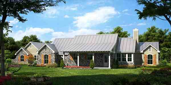 Country, Farmhouse, Traditional House Plan 56566 with 3 Beds, 3 Baths, 2 Car Garage Elevation