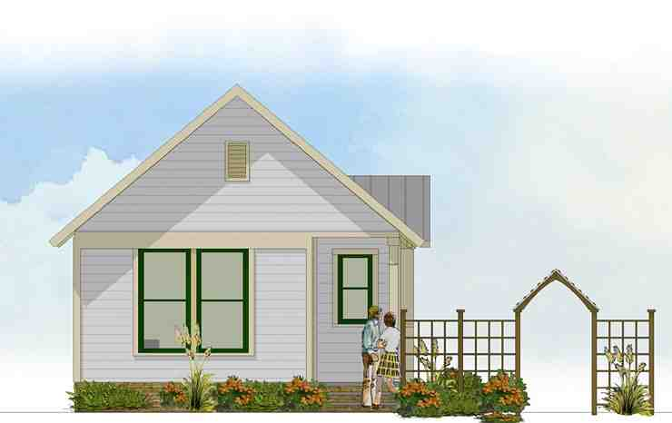 Bungalow, Cabin, Cottage, Traditional House Plan 56581 with 1 Beds, 1 Baths Picture 1