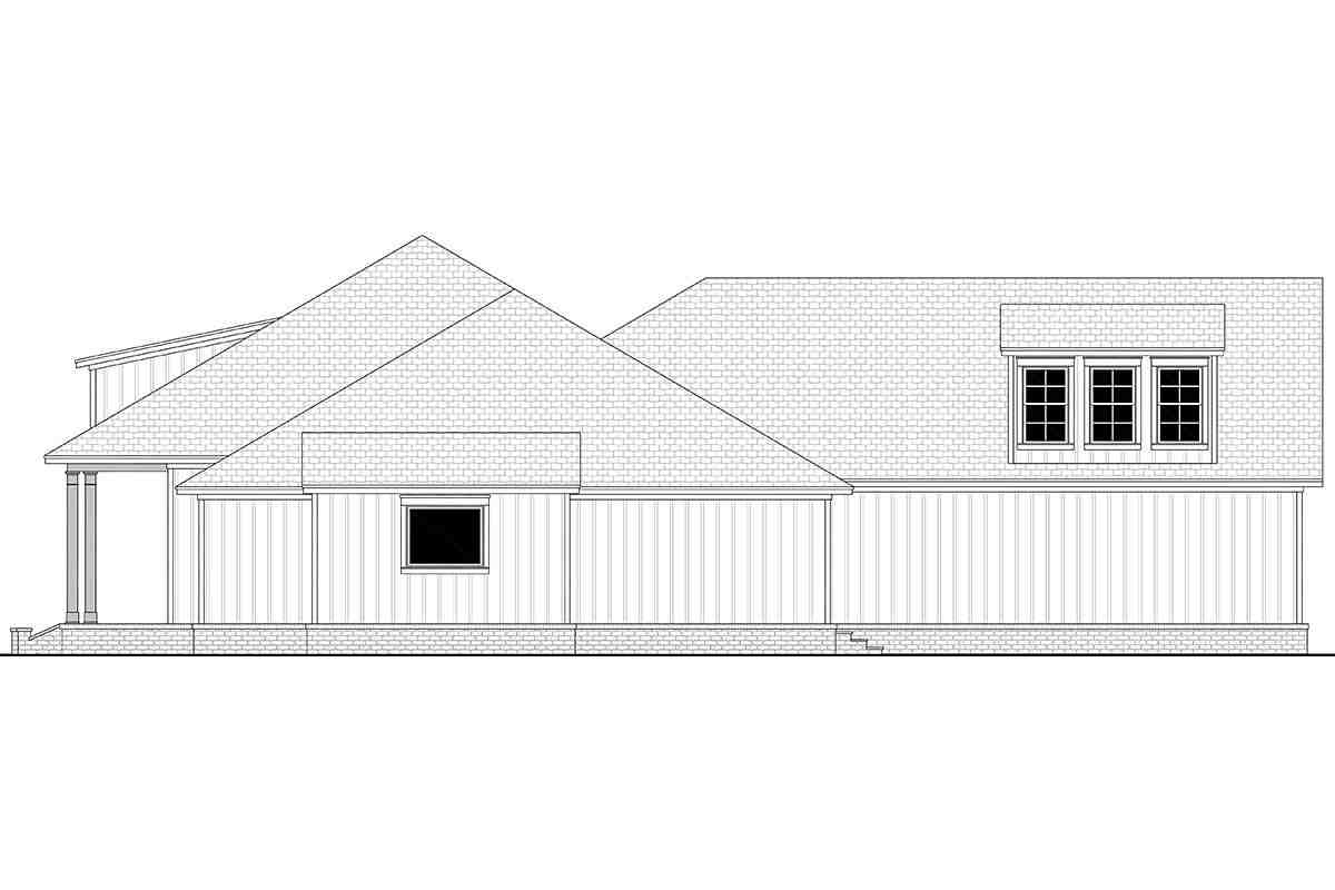 Country, French Country, Southern House Plan 56711 with 3 Beds, 3 Baths, 2 Car Garage Picture 1