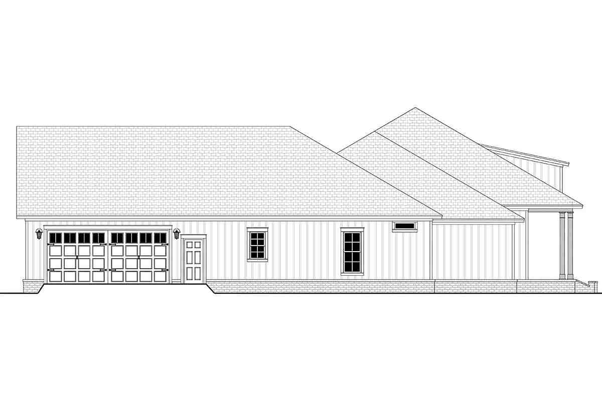Country, French Country, Southern House Plan 56711 with 3 Beds, 3 Baths, 2 Car Garage Picture 2