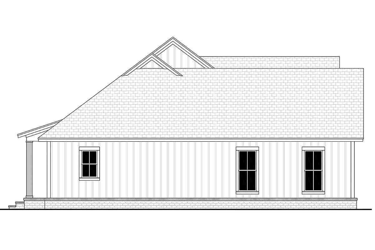 Country, Farmhouse, One-Story, Traditional House Plan 56715 with 3 Beds, 2 Baths, 2 Car Garage Picture 2