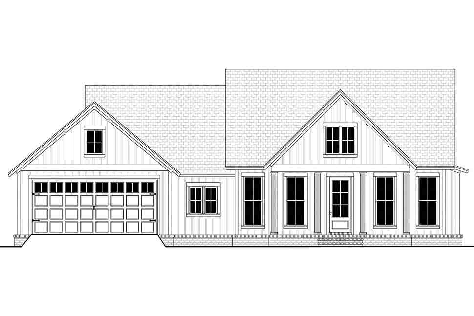 Country, Farmhouse, One-Story, Traditional House Plan 56715 with 3 Beds, 2 Baths, 2 Car Garage Picture 3