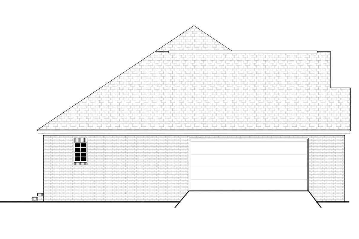 Acadian, Country, European, French Country House Plan 56958 with 3 Beds, 2 Baths, 2 Car Garage Picture 2