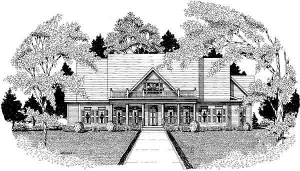 Traditional House Plan 58133 with 3 Beds, 3.5 Baths, 3 Car Garage Elevation