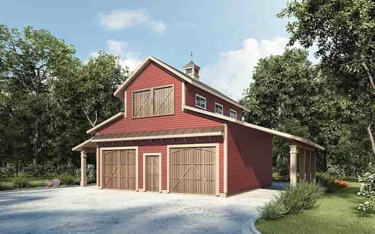 2 Car Garage Plan 58286 Elevation