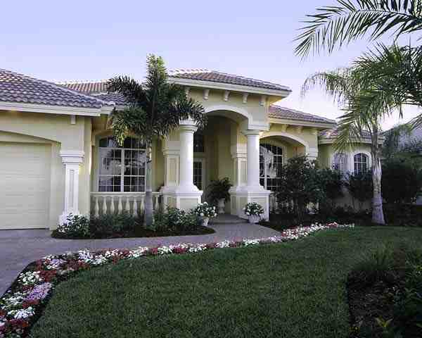 Florida House Plan 58904 with 3 Beds, 4 Baths, 3 Car Garage Picture 1
