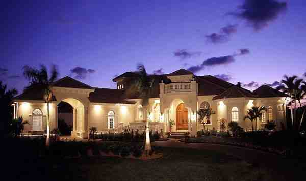 Florida House Plan 58907 with 3 Beds, 4 Baths, 3 Car Garage Elevation