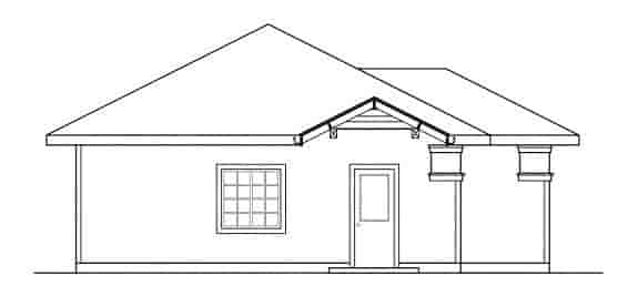 Contemporary, Traditional 3 Car Garage Plan 59449 Picture 1