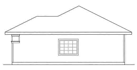 Contemporary, Traditional 3 Car Garage Plan 59449 Picture 2