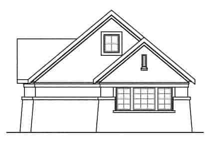 European, Traditional 3 Car Garage Apartment Plan 59451 Picture 2