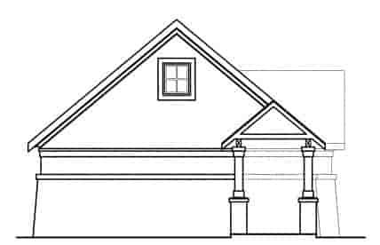 European, Traditional 3 Car Garage Apartment Plan 59451 Rear Elevation