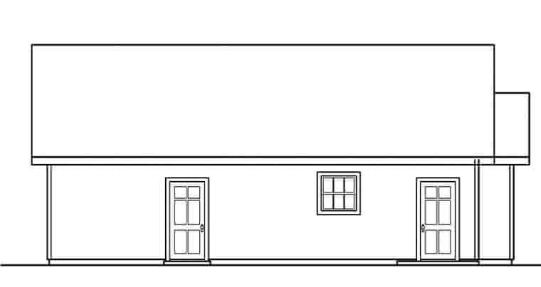Traditional 2 Car Garage Plan 59462 Picture 1
