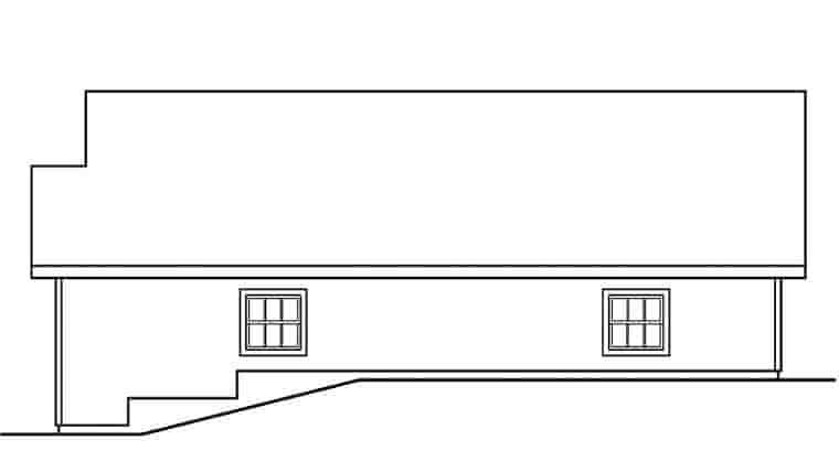 Traditional 2 Car Garage Plan 59462 Picture 2