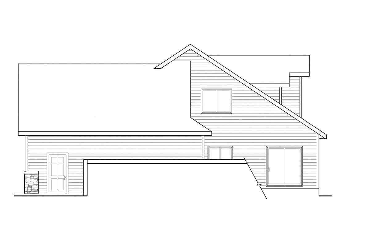 Contemporary, Cottage, European House Plan 59746 with 3 Beds, 3 Baths, 2 Car Garage Picture 1