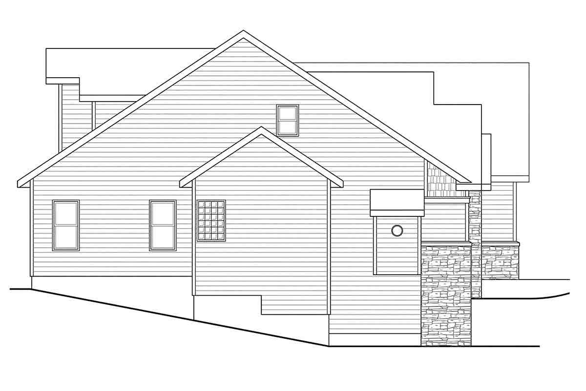 Contemporary, Cottage, European House Plan 59746 with 3 Beds, 3 Baths, 2 Car Garage Picture 2