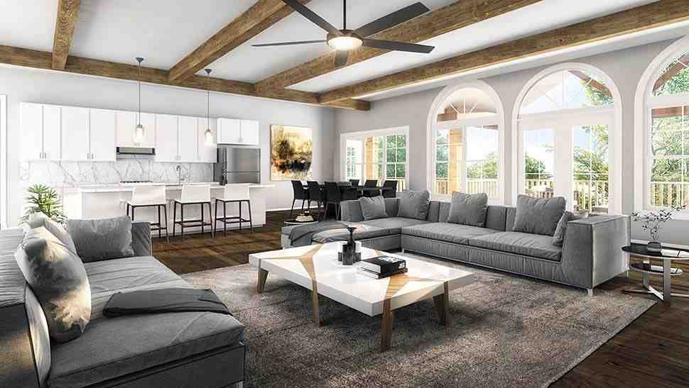 Cottage, Country, Craftsman House Plan 60028 with 4 Beds, 4 Baths, 3 Car Garage Picture 14