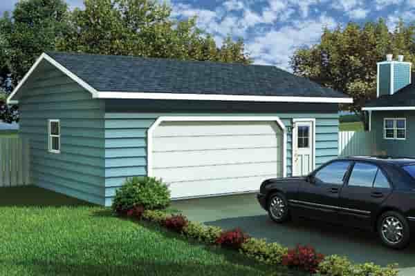 Ranch, Traditional 2 Car Garage Plan 6004 Elevation