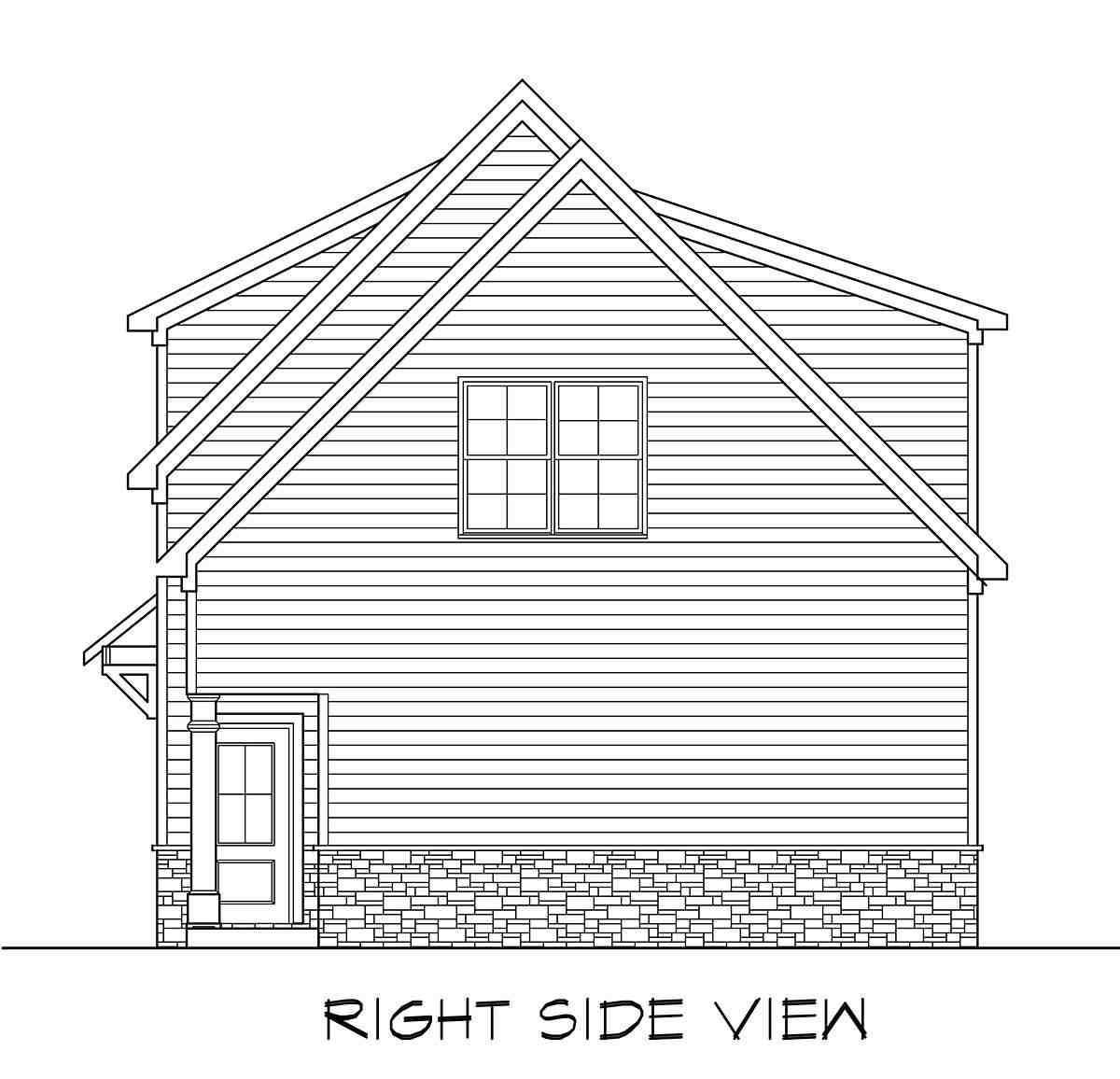 Craftsman, Traditional 3 Car Garage Apartment Plan 60089 with 2 Beds, 3 Baths Picture 1