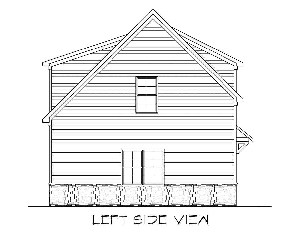 Craftsman, Traditional 3 Car Garage Apartment Plan 60089 with 2 Beds, 3 Baths Picture 2