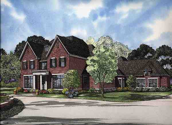 Colonial, Traditional House Plan 62158 with 4 Beds, 6 Baths, 4 Car Garage Elevation