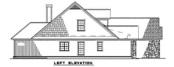 Bungalow, Traditional House Plan 62190 with 4 Beds, 3 Baths, 2 Car Garage Picture 1