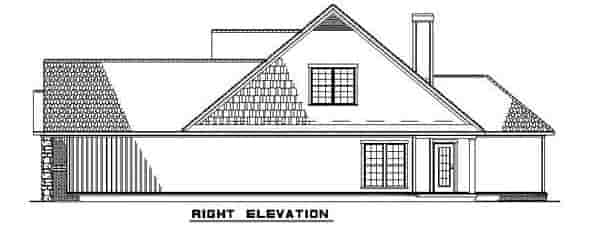 Bungalow, Traditional House Plan 62190 with 4 Beds, 3 Baths, 2 Car Garage Picture 2
