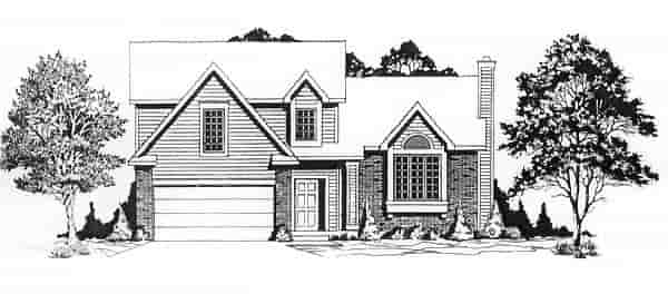 Traditional House Plan 62527 with 3 Beds, 2 Baths, 2 Car Garage Elevation