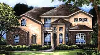 Contemporary House Plan 63211 with 4 Beds, 4 Baths, 2 Car Garage Elevation