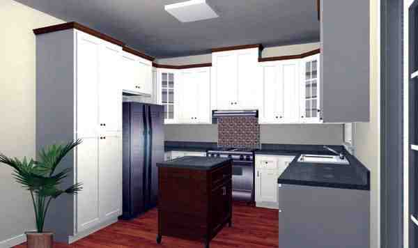 Country, One-Story House Plan 64573 with 3 Beds, 2 Baths, 2 Car Garage Picture 1