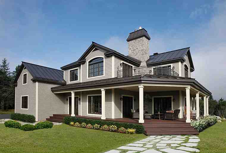 Country, Traditional House Plan 65237 with 3 Beds, 3 Baths, 2 Car Garage Picture 1