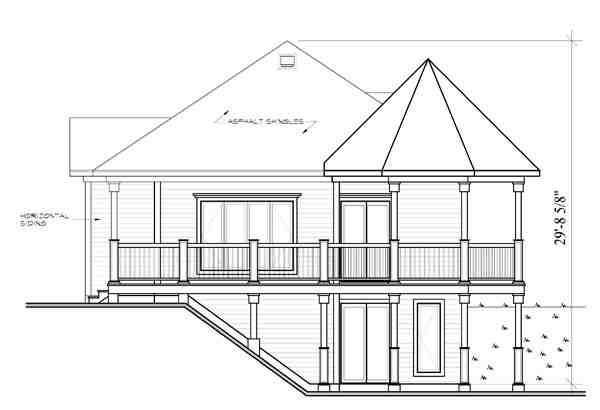 Bungalow, Cabin, Coastal, Country, Victorian House Plan 65263 with 1 Beds, 1 Baths Picture 1